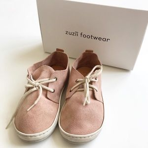 Zuzii dusty rose suede low rise oxfords EUC size 8